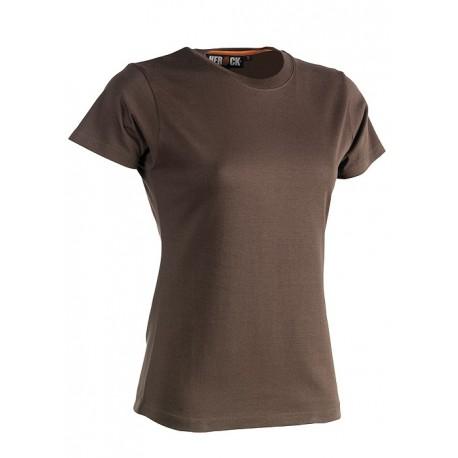 Tee shirt manches courtes femme HEROCK EPONA marron