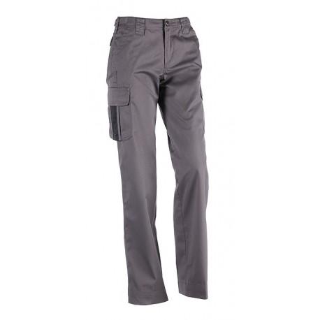 Pantalon femme multi-poches Sherock Athena gris