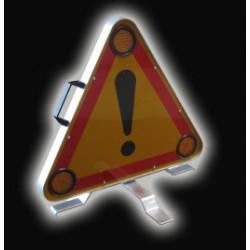 Triangle de signalisation lumineux
