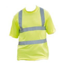 Tee shirt de sécurité haute visibilité EN471 à bandes rétroréfléchissantes