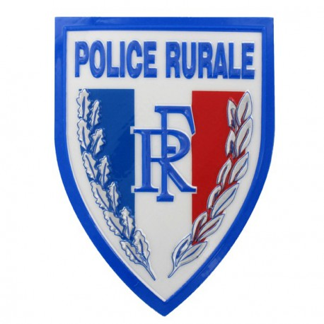 Ecusson Police Rurale plastifié