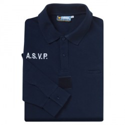 POLO MARINE ASVP MANCHES LONGUES