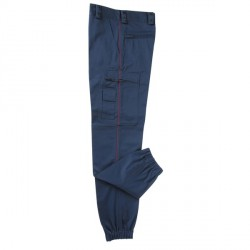 Pantalon Intervention mat doublé polaire liseré bordeaux
