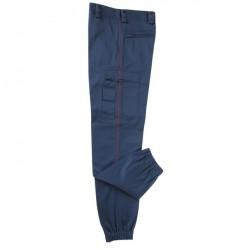 Pantalon marine ASVP Satiné à liseré bordeaux