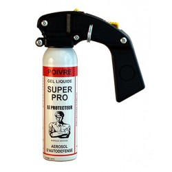 Bombe lacrymogène gel poivre 100ml spray défense