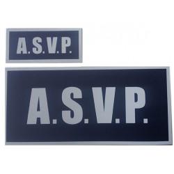 Panneau Avant/Arrière ASVP rétro sur velcros