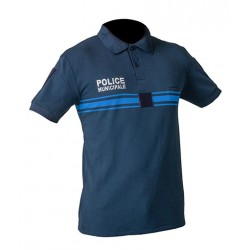 Polo Police Municipale bleu New Life MC