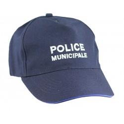 Casquette souple Police Municipale réglable liseré gitane