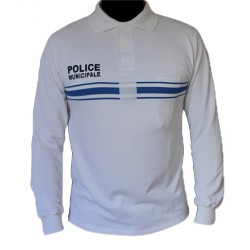 Polo Police Municipale blanc New Life ML