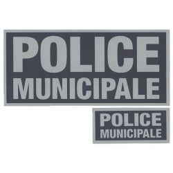 Panneau Avant/Arrière Police Municipale rétro sur velcros