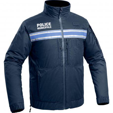 Poids lourd 280GSM full zip veste polaire workwear hiver outdoor bleu marine noir