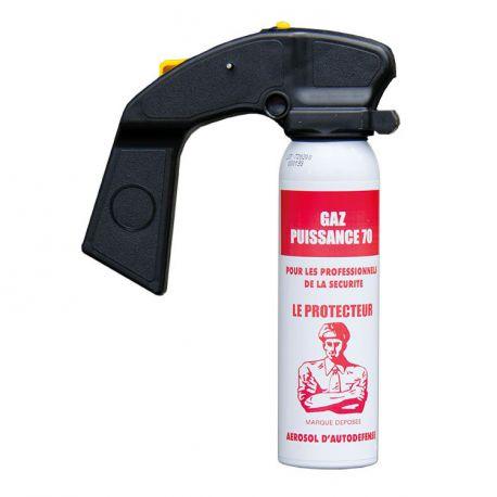 Bombe lacrymogène gaz cs 100ml