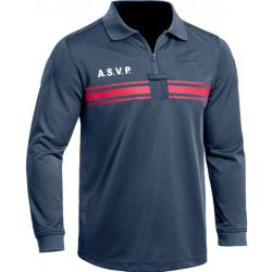 Polo ASVP ML polyester col zip