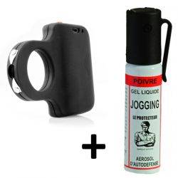 Pack joggeur shocker et bombe lacrymogène
