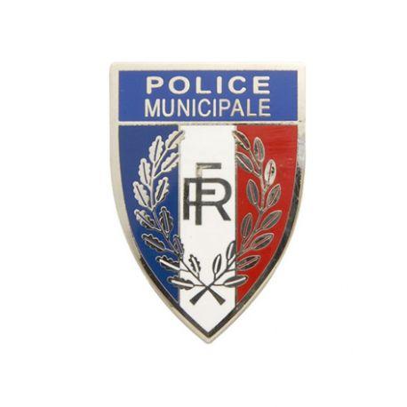 Insigne métal de calot Police Municipale