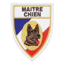 "Ecusson pointu maitre chien ""BERGER ALLEMAND"""