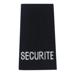 Fourreau noir brodé SECURITE blanc