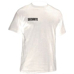 T shirt blanc SECURITE