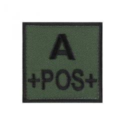 Velcro groupe sanguin noir/vert A+