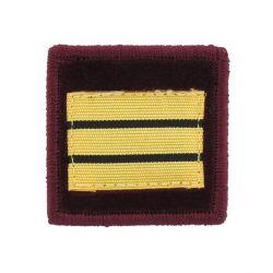 Grade pompier médecin velours capitaine