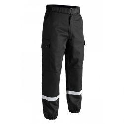 Pantalon Sécurité F2 noir bande grise