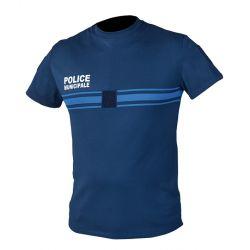 Tee shirt bleu PM Manche Courte New Life