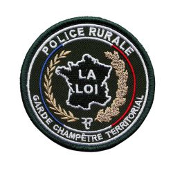 Ecusson rond GC Police Rurale brodé