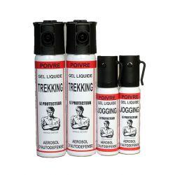 Pack aérosols de défense gel poivre