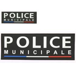 Panneaux Avant et Arrière Police Municipale rétro sur velcros