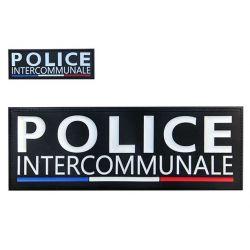 Bande Police Intercommunale gomme relief noir