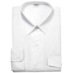 CHEMISE COL FERME MANCHES LONGUES HOMME BLANCHE