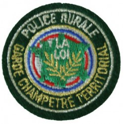 Ecusson rond POLICE RURALE