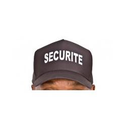 Casquette souple noire brodée SECURITE