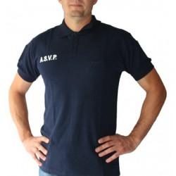 Polo ASVP manche courte marine
