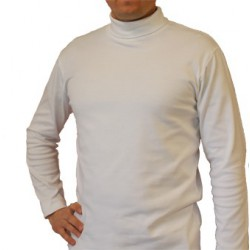 Sous pull col roulé blanc