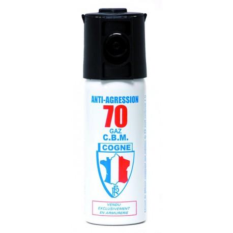 Bombe aérosol de défense au gaz lacrymogène 50ML