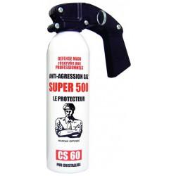 Bombe aérosol de défense au gaz lacrymogène 500ML