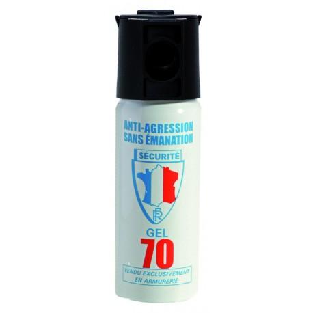 Bombe aérosol de défense au gel lacrymogène 50ML
